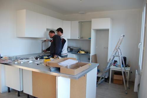 Devis de cuisine equip e et pose de la cuisine chantier for Devis pose cuisine